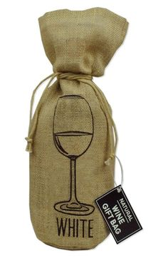 DESIGN IMPORTS 'Wine Glass' Gift Bag available at #Nordstrom