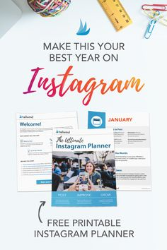 Make this your best year on Instagram when you download our free printable Instagram planner. Get what to post, tips to try, and hashtags to help you grow!