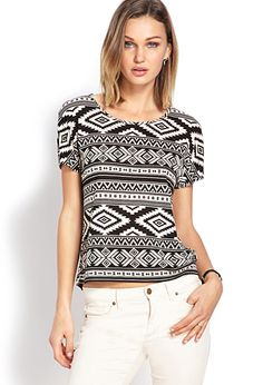 Boxy Tribal Print Top | Forever21 - 2000107333