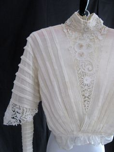 Antique blouse 1900s 1910s Downton Abbey by vintageboxofdelights, $115.00