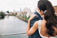 Bridal hair waves by wedding hair specialist Vanessa Fernandez