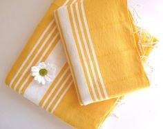 Natural Turkish BATH and Head Towel Set Handmade by TheAnatolian, $39.50