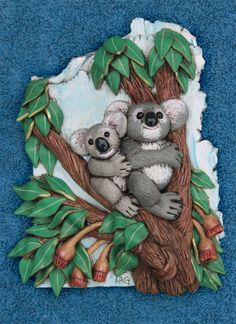 Book 5 Down Under Koala wall sculpture from the book by Laurie Grassel for the #FriesenProject of 2013 on KatersAcres Blog