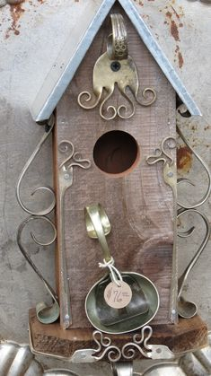 Repurposed silverware by Dan Shattuck featured at the 3 Speckled Hen Show #birdhouses