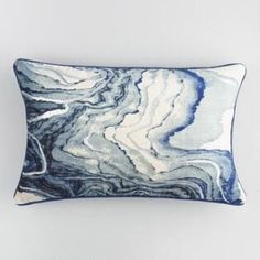 Abstract meets sumptuous glamour in our blue marble velvet pillow, highlighted with a silver metallic print. Luxuriously soft and smooth with a solid blue herringbone back, it adds an air of bohemian sophistication to any seating space. Cheap Throw Pillows, Blue Throw Pillows, Velvet Pillows, Throw Cushions, Accent Pillows, Decorative Throw Pillows, Patio Pillows, Sofa Pillows, Couches