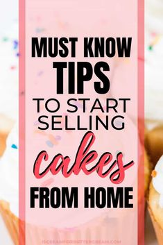 If you want to start a cake business, here are tips you must know to start selling cakes from home. Start off prepared by learning food safety, cottage food laws, best practices for selling baked goods and how to prepare mentally. #cakebusiness #cupcakebusiness #homebakingbusiness Bakery Business Plan, Baking Business, Catering Business, Business Ideas, Business Opportunities, Home Baking, Baking Tips, Selling Food From Home, Cake Pricing