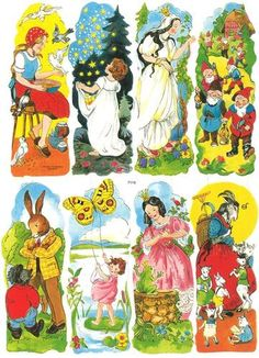 Vintage German Fairytales Motifs Number 2 Die Cuts Sheet Germany | eBay