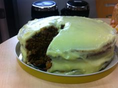 carrot cake with sloppy icing