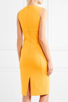 Michael Kors Collection - Wool-blend Crepe Dress - Yellow