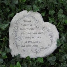 Sympathy Stones For The Garden 3 pc memorial garden stone set enjoying the outdoors pinterest love leaves a memory heart shaped garden memorial stone to honor a loved one in a serene garden setting workwithnaturefo