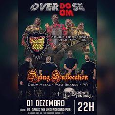 O grupo catarinense mais putrefato da história, o ZOMBIE COOKBOOK, é uma das bandas que se apresentam no festival Overdose Doom nesta sexta-feira, dia 1º de dezembro. O evento acontece na cidade de…