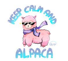 Keep calm and Alpaca -  Noch mehr tolle kawaii Shirts oder Taschen findet Ihr auf unserem tollen Onlineshop www.yakitori.de. Mehr noch alles zum Thema Cosplay, Manga und Kimono.