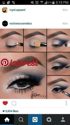 Gorgeous Makeup: Tips and Tricks With Eye Makeup and Eyeshadow – Makeup Design Ideas Dramatic Eye Makeup, Eye Makeup Steps, Smokey Eye Makeup, Makeup Tips, Eyeliner Makeup, Cute Makeup, Gorgeous Makeup, Navy Blue Makeup, Blaues Make-up