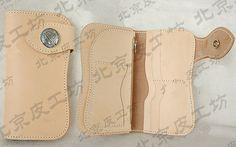 Pattern template Long wallet leathercraft by LeatherPatternCraft