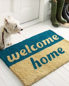 Step up your look and brighten your doorstep with our vibrant original doormat designs hand-made from natural fibers.