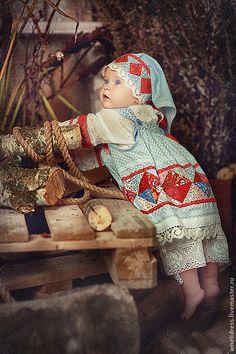 Купить Русский сарафан - орнамент, русский сарафан, лоскутное шитье, барышня, девушка, народный костюм