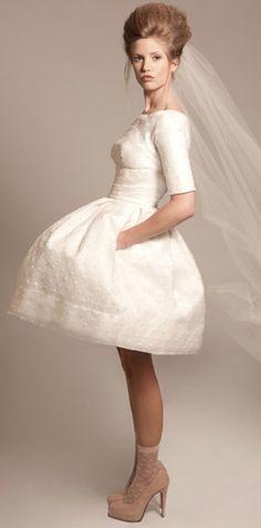 cute short wedding dress.- bridal shower dress/ rehearsal dinner dress
