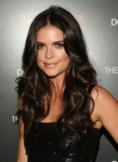 Katie Lee: Long hair: LOVE the long curls Long Curls, Long Wavy Hair, Dark Hair, Katie Lee Joel, Spiral Curls, Gorgeous Hair, Beautiful, Up Hairstyles, Hairstyle