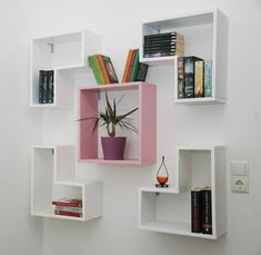 8 Fascinating Cool Tips: Long Floating Shelf Decor floating shelf design apartment therapy.How To Build Floating Shelves Products white floating shelves bar.Floating Shelves With Lights Desks. Wall Bookshelves Kids, Creative Bookshelves, Wooden Wall Shelves, Floating Shelves Diy, Bookshelf Ideas, Hanging Bookshelves, Wood Shelf, Book Shelves, Wood Wall