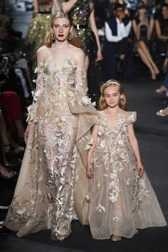 There are Elie Saab fall-winter collection for mothers and daughters. Incredible and irresistible gowns Check others Elie Saab Couture collection on Elie Saab Couture, Fashion Week, Runway Fashion, Fashion Show, Fashion Design, Fall Fashion, Fashion Art, Fashion Brands, Style Couture