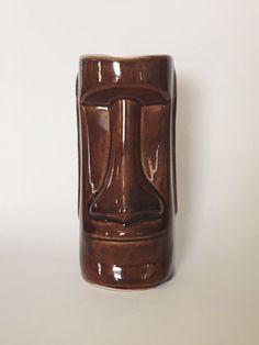South Seas Village Restaurant Hawaii Moai Easter Island Head Daga Tiki Mug  | eBay