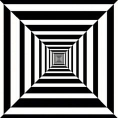 Quilt idea - the stripes narrow to the center - Op art depth