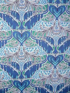 Gorgeous Art Nouveau Hearts fabric Fat Quarter by EarthWireShirts, £3.00
