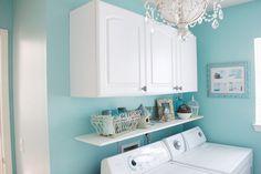 Turquoise-Laundry-Room