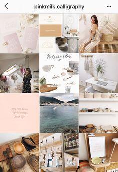 Нежный дизайн инстаграма Instagram Design, Instagram Feed, Instagram Posts, Identity Design, Visual Identity, Instagram Banner, Favorite Color, Gallery Wall, Layout