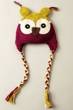 Owl Hat for a little girl
