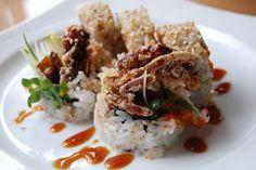 Crab Sushi   Spider roll #sushi