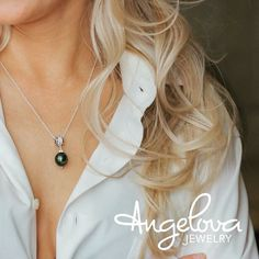 Angelova Jewelry on Etsy / black pearl / Tahitian pearls / beauty/ nature