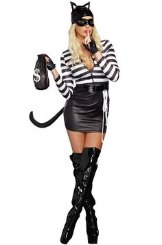 Adult Cat Burglar Costume - You won't have to break in to go to a party this Halloween because everyone will want you there in this Cat Burglar Adult Costume! Sexy Costumes For Women, Sexy Halloween Costumes, Halloween Fancy Dress, Adult Halloween, Adult Costumes, Woman Costumes, Pirate Costumes, Couple Costumes, Princess Costumes