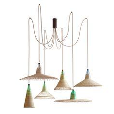 PET Lamp | CHIMBARONGO set de 6. Interesantes lámparas hechas a base de botellas en Chile y Colombia.