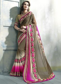 Brown Georgette Embroidered Work Designer Traditional Saree Buy You will be the center of attention in this Online @ http://www.indiansareestore.com/9103-brown-georgette-embroidered-work-designer-traditional-saree  #sareecollection2015 #sareeonline #sareedesigns #sareestyles
