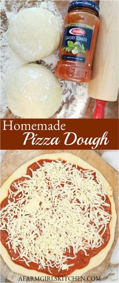 Homemade Pizza has never been easier or tasted more delicious with this Pizza Dough Recipe. #pizza #homemade #dough #pizzadough #homemadepizza #Italianpizza #easyrecipe Homemade Marinara, Homemade Cheese, Making Homemade Pizza, Pizza Dough, Pizza Pizza, Dough Recipe, No Cook Meals, Breakfast Recipes, Spaghetti