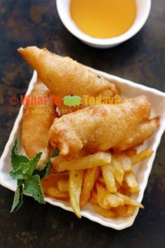 FISH AND CHIPS. The batter is so light and airy ! love this ! A keeper recipe!