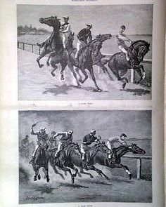 "Harper's Weekly, June 1887 ""Sketches from a Summer Race Meeting"""