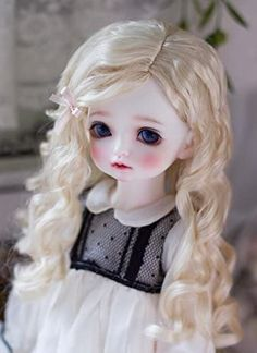 Amazon.com: JD285 Long Blond Princess Wave Synthetic Mohair Doll Wigs YOSD MSD SD BJD Doll Accessories (8-9inch) Doll Wigs, Bjd Dolls, Long Blond, Drawing Projects, Amazon Art, Doll Accessories, Sewing Crafts, Curly Hair Styles, Artsy