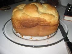 """Gluten free bread machine bread.  It's my favorite """"go to"""" bread, and is much better than the stuff you can buy.  I pre-mix the dry ingredients and keep single loaf baggies of them tucked in the cabinet to make it even easier."""
