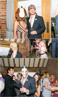 Read more about this Humanist Copdock Hall wedding if you're thinking of something different. Fun, relaxed humanist wedding at Copdock Hall Barn in Suffolk Party Time, Wedding Reception, Ted, Masks, Have Fun, Wigs, Photography, Marriage Reception, Photograph