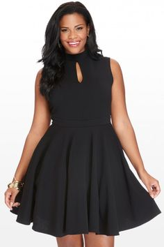 Plus Size Kay Keyhole Dress | Fashion To Figure $46.90