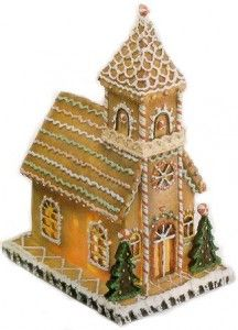 Gingerbread Church, train and other templates plus recipe for the gingerbread
