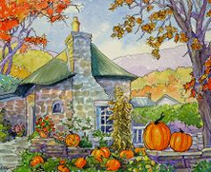 A Gardener's October Storybook Cottage Series