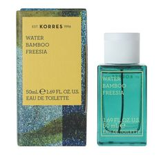 Korres Water Bamboo Freesia combines the scent of fresh bamboo and alluring freesia. The fragrance is inspired by the different shades of nature, from vegetal bamboo to a vaporous floral signature. Perfume Glamour, Perfume Store, Perfume Bottles, Deodorant, Summer Scent, Make Up, Eau De Toilette, Fragrance
