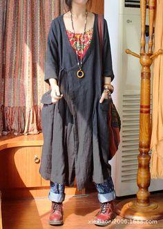 2014 vente! Ms. Texture ceinturée de lin en appuyant sur de grandes poches d'épaisseur. vertical, pure, loisirs, manteau col v