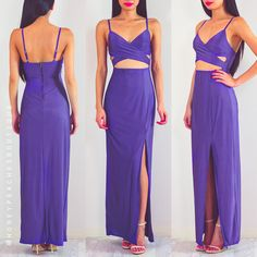 No Matter Where You Are Maxi Dress - Purple