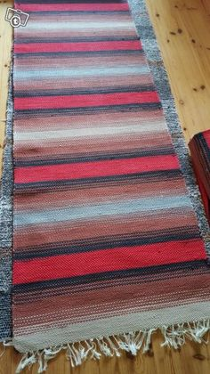Uudet räsymatot 7 kpl Weaving Art, Loom Weaving, Rag Rugs, Recycled Fabric, Woven Rug, Rug Making, Scandinavian Style, Pattern Design, Shawl