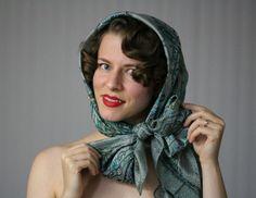 How to Tie a Vintage Scarf #vintage #head #scarf #diy #tutorial