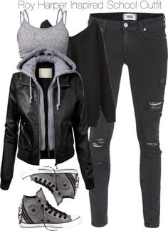 winter outfits for school & winter outfits . winter outfits for work . winter outfits for school . winter outfits for going out . Batman Outfits, Teenage Outfits, Teen Fashion Outfits, Edgy Outfits, Cute Casual Outfits, Grunge Outfits, Outfits For Teens, Jeans Outfits, Rock Outfits